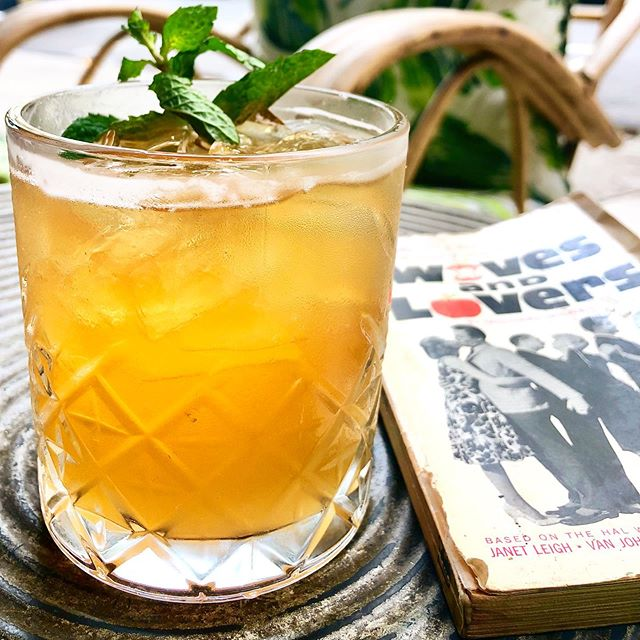The Porch Swingers craft cocktail, come on down to Antique Bar and Bakery to give it a try!