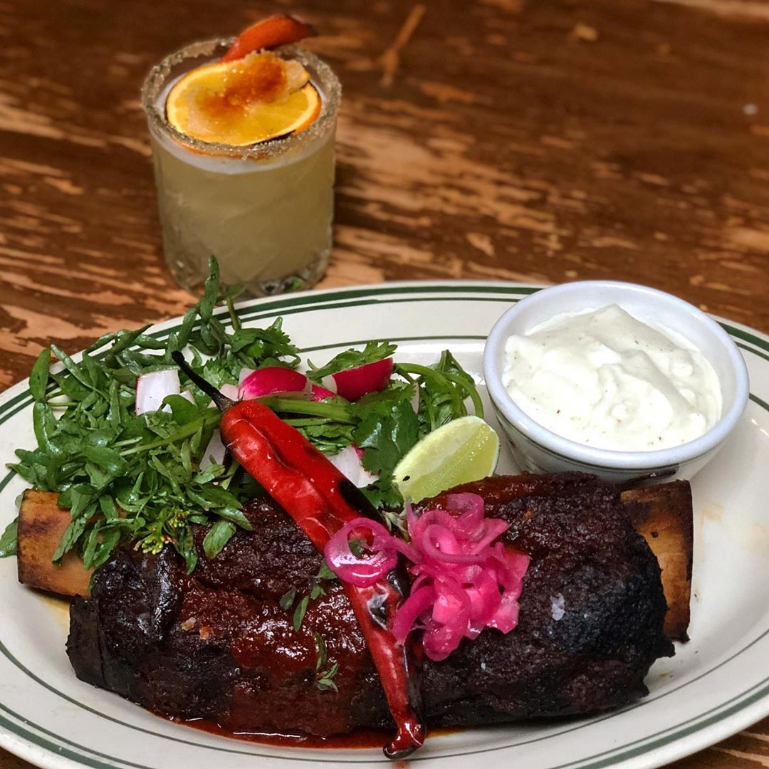 Short Rib Barbacoa, Creamy Masa, watercress...what else could you want? Antique Bar and Bakery