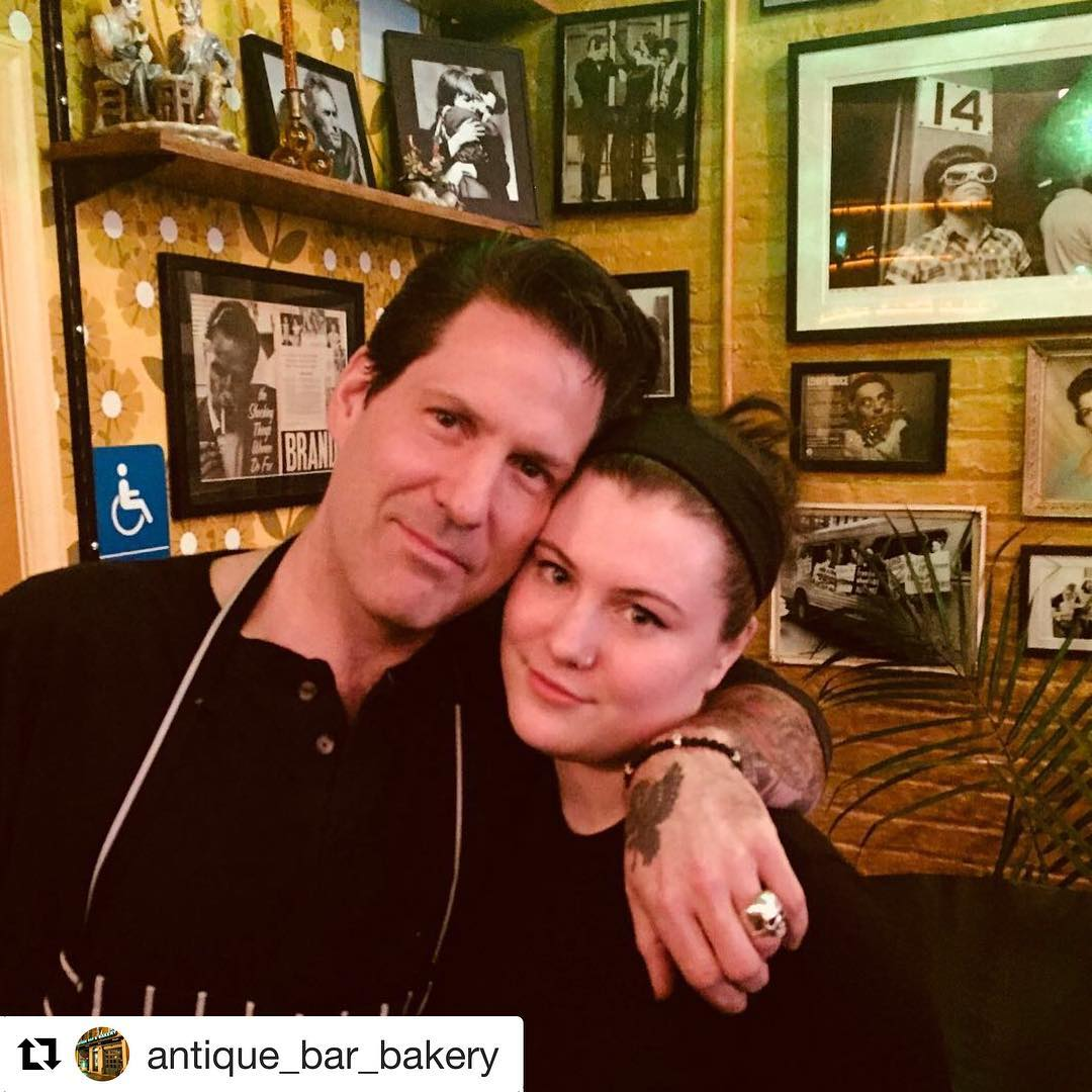 So thankful I get to work with my daughter every day at Antique Bar and Bakery - Chef Paul Gerard