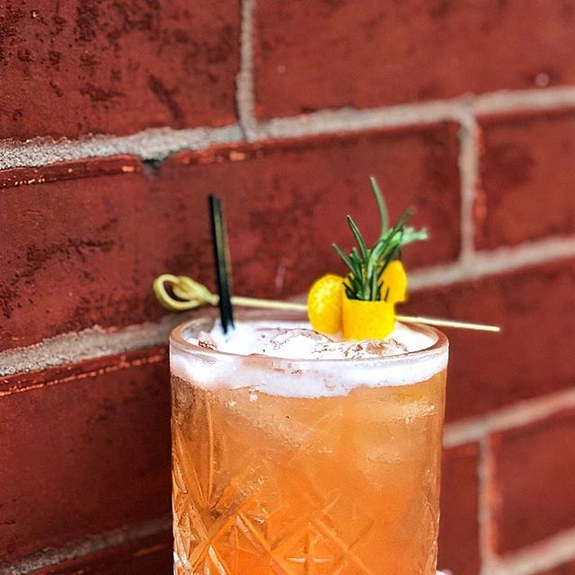 Tropical Cowboy craft cocktail from Antique Bar and Bakery