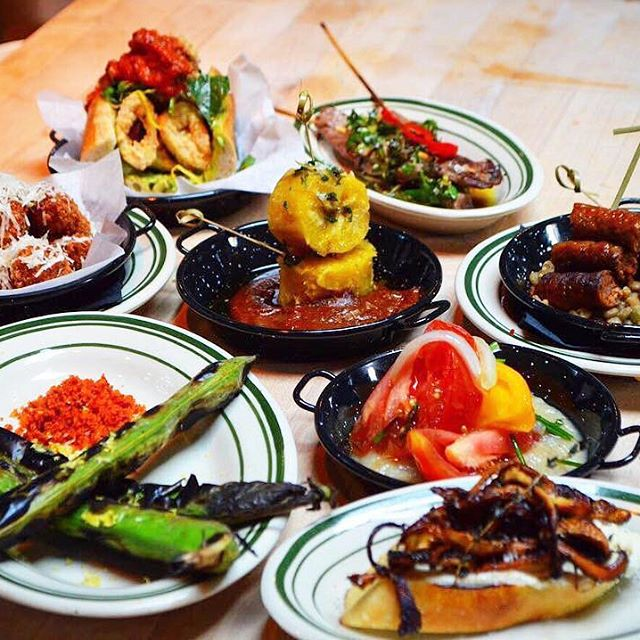 Tapas at Antique Bar and Bakery in Hoboken, come and get it!