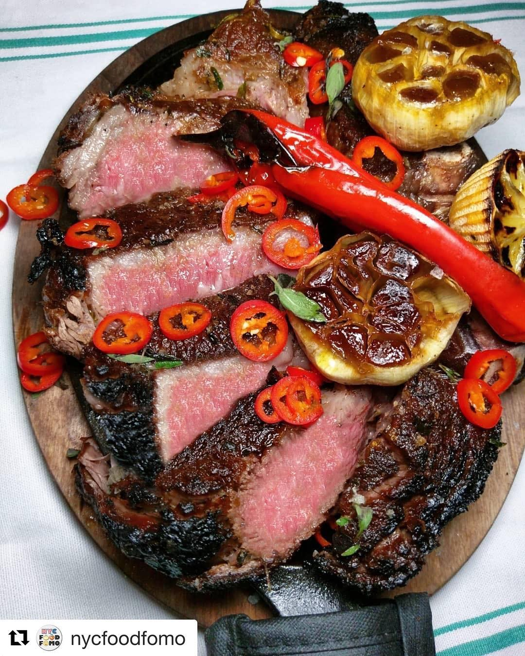 The BEST Ribeyes you'll find anywhere, only at Antique Bar and Bakery in Hoboken