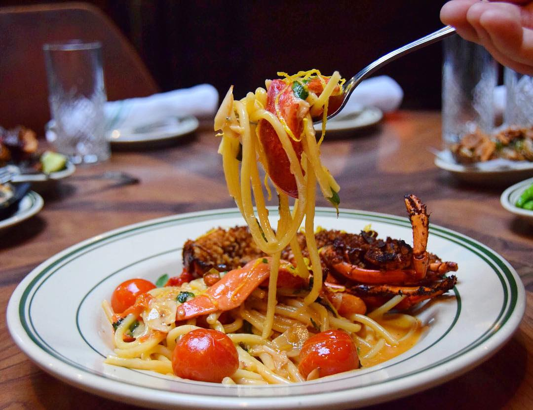 Lobster pasta, let the good times roll! Antique Bar and Bakery in Hoboken