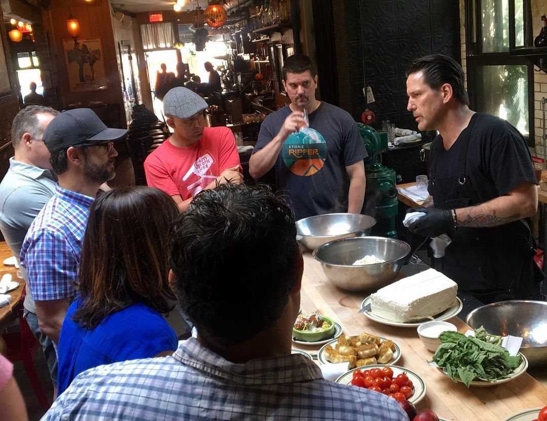 Mozzarella class with Chef Paul Gerard at Antique Bar and Bakery!