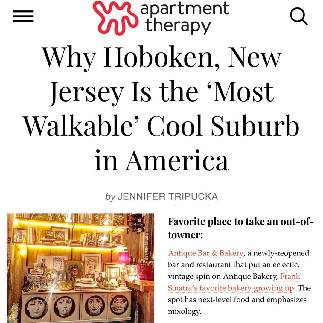 We've come a long way baby, Hoboken is the future! Join us at Antique Bar and Bakery!