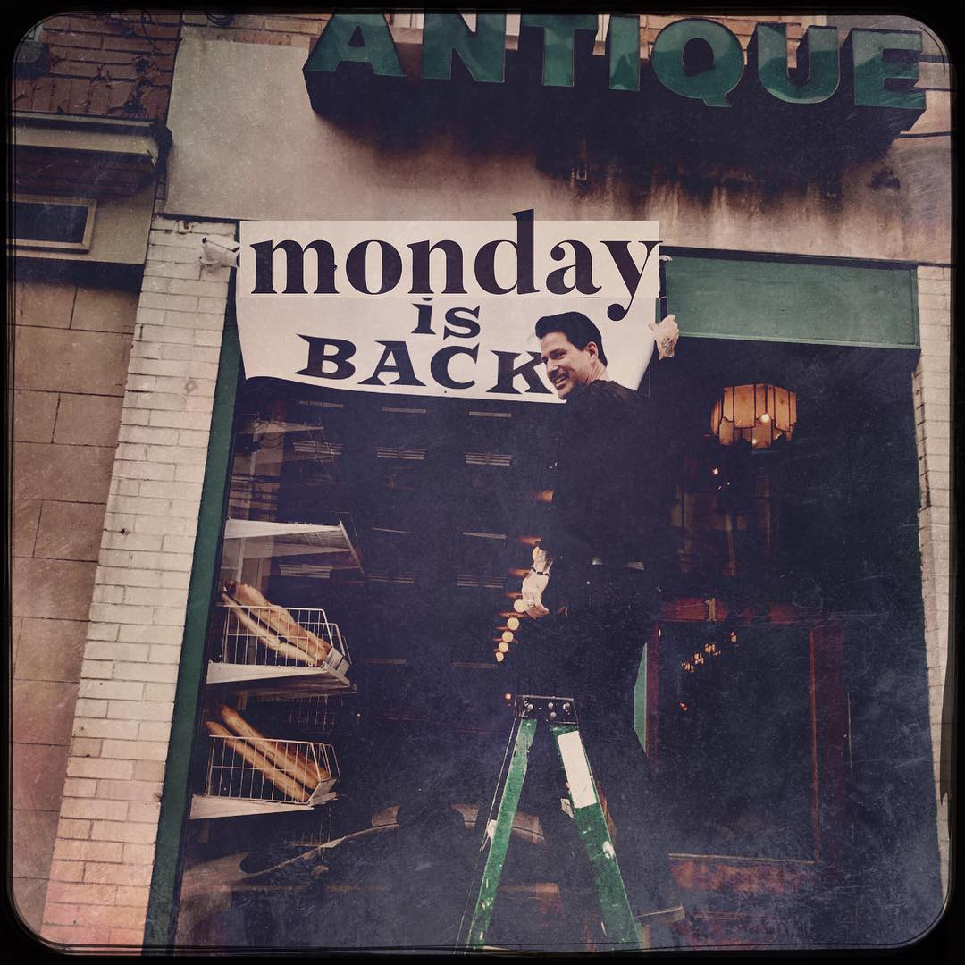 Monday is back baby, we're open again!