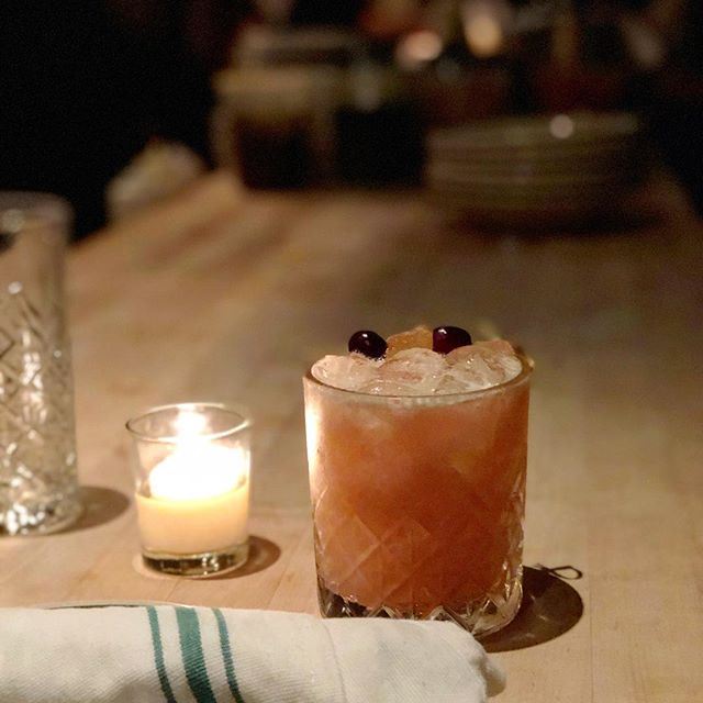 sticky fingers, craft cocktail found ONLY at Antique Bar and Bakery