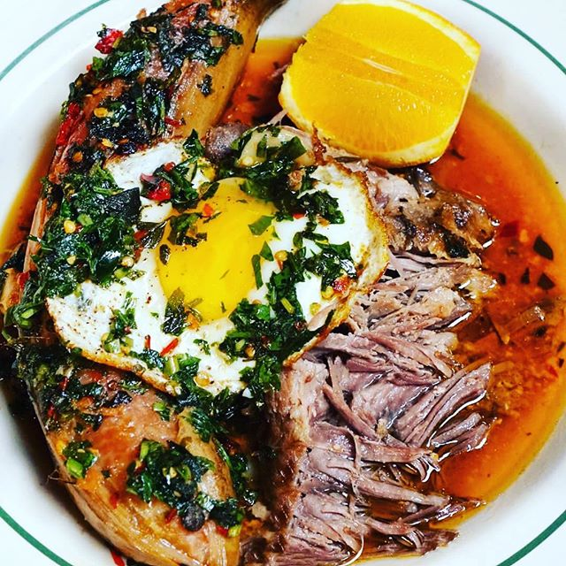 Boricua Breakfast from Antique Bar and Bakery in Hoboken!