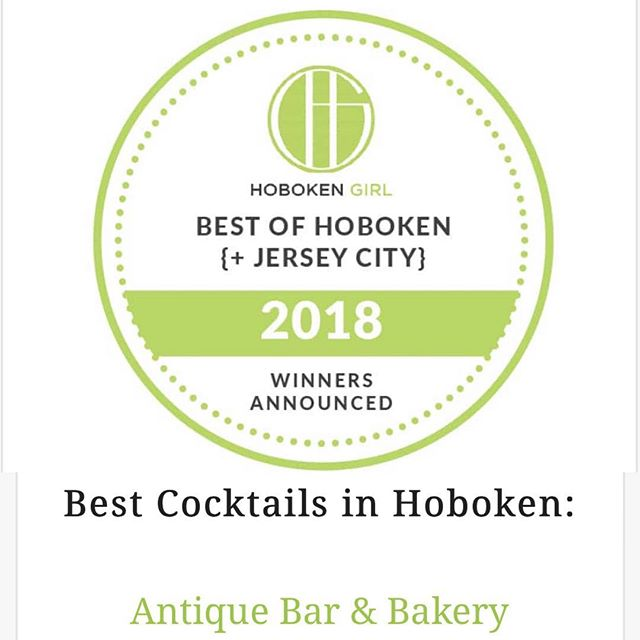 Voted BEST Cocktails in Hoboken, Antique Bar and Bakery!