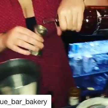 My baby girl slinging drinks at Antique Bar and Bakery!