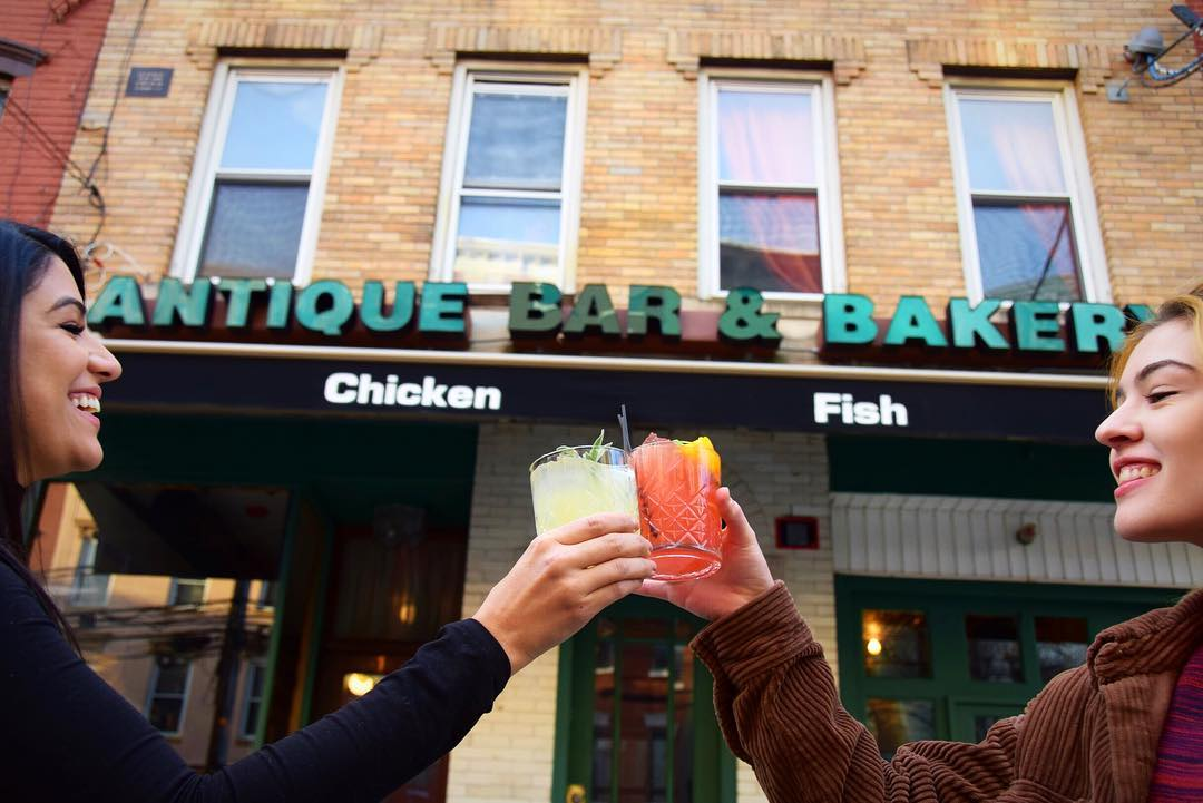 Best cocktails in Hoboken at Antique Bar and Bakery!