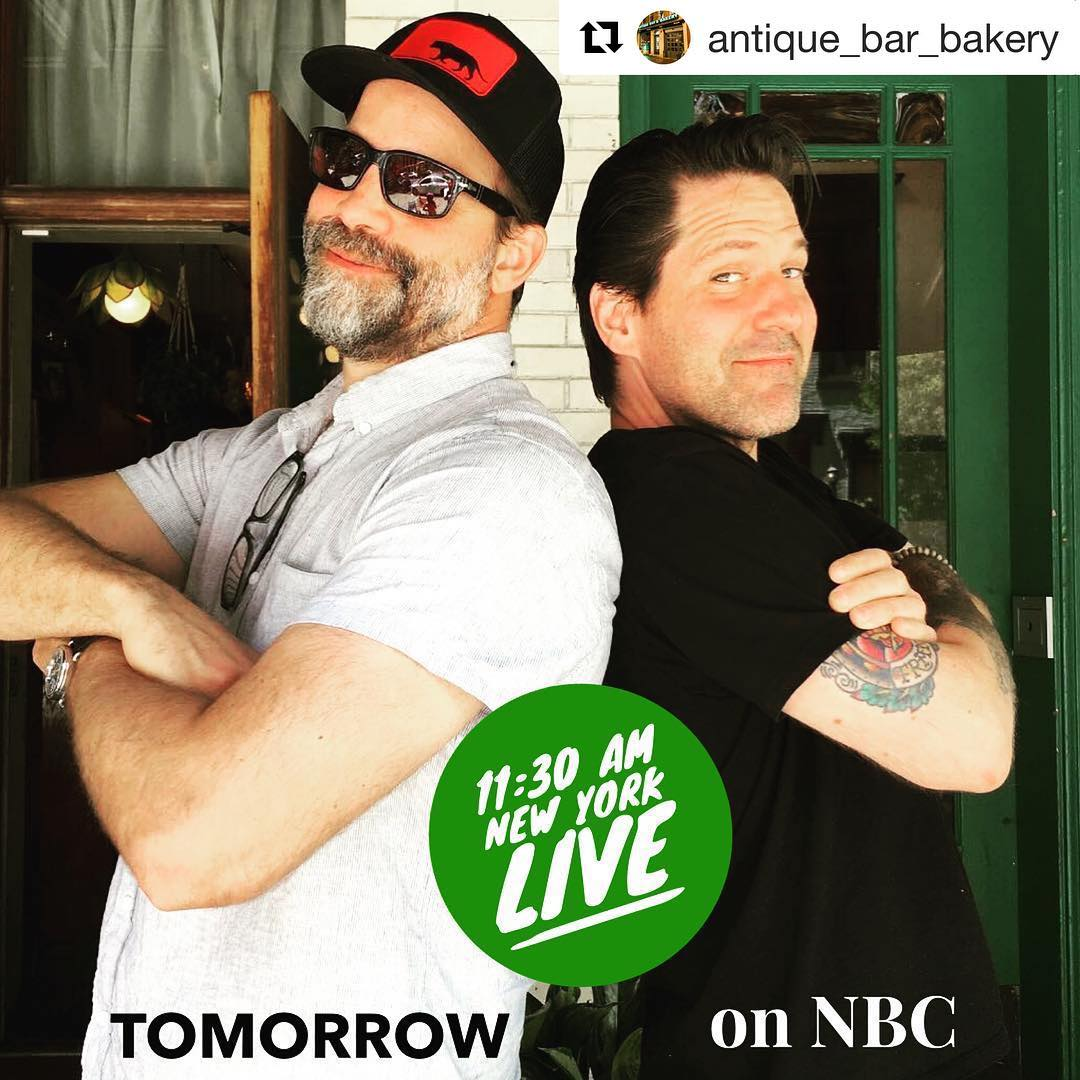 Joey and Chef Paul Gerard at Antique Bar and Bakery on NBC! Tune in!