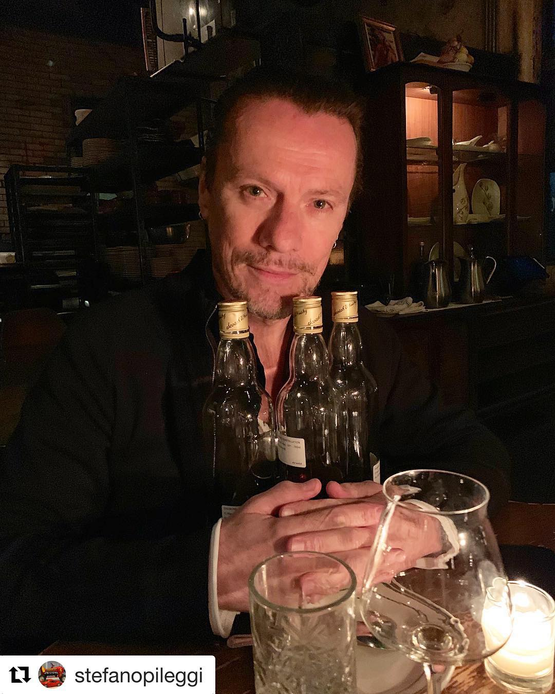 LARRY MULLEN JR of U2! Such a blessed life at Antique Bar and Bakery - Chef Paul Gerard