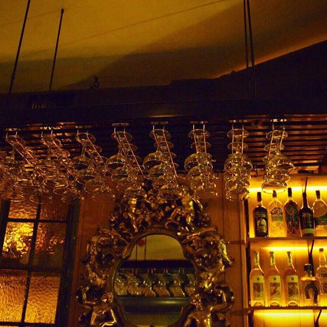 All Through The Bar The Glassware Was Hung With Great Care