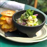 Agua Chili! Sweet shrimp ceviche, get it today at Antique Bar and Bakery!