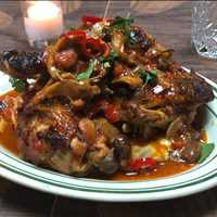 Chicken Cacciatore made with free range chickens at Antique Bar and Bakery!