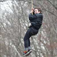 Zip line fun - Chef Paul Gerard
