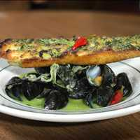 New spring additions are flowing in, check out our mussels in the herb sauce! Antique Bar and Bakery