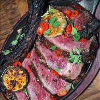 Dirty Rib Eye, favorite steak of Johnny Prime available only at Antique Bar and Bakery!