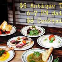 Antique Tapas for $5! Can't beat the food at Antique Bar and Bakery!