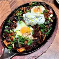 Jersey farm eggs coal baked at Antique Bar and Bakery, your Hoboken brunch destination!