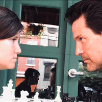 Face off, time for chess! Frank vs his father at Antique Bar and Bakery!