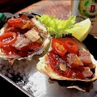 Coal fired BBQ oysters, the best food in Hoboken! - Antique Bar and Bakery