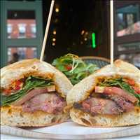 Tonight as seen on TV, the Slab Bacon BLT at Antique Bar and Bakery! Come try it for yourself