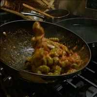 Frank made the pasta, the sauce and more - such a good idea to film in slow mo - Chef Paul Gerard