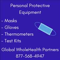 Superior PPE Supplies Masks Gloves Thermometers Global WholeHealth Partners 877-568-4947