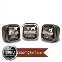 Cannabidiol dog treats travel tins for sale from CBD Unlimited