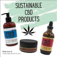 Sustainable premium hemp CBD oil and CBD lotion from Urban CBD Collective