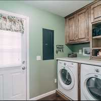 Laundry area is updated and organized, you will love it!