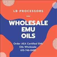 Order Bulk Wholesale AEA Certified Emu Oils Online LB Processors 615-746-8485