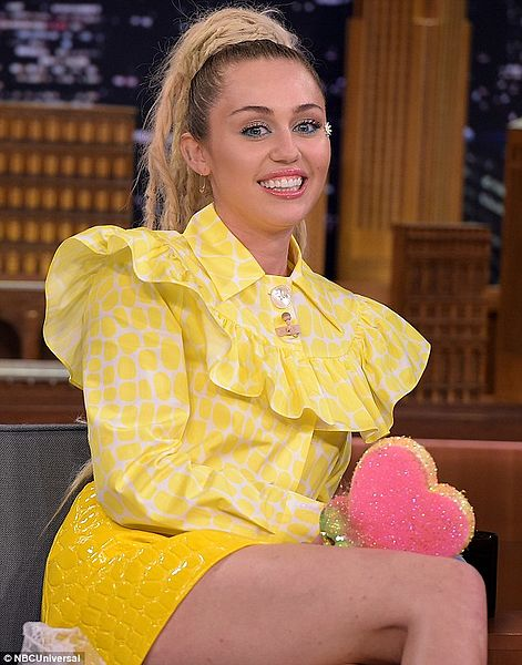 Miley Cyrus With Jimmy Fallon