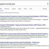 Indexing Results in Google for CPC Pools Claim Your Names Today 404-443-3224
