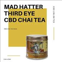 Enjoy our Mad Hatter CBD Chai Tea, made with all natural ingredients and premium hemp -CBD Unlimited