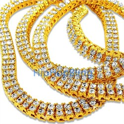 Two Row Iced Out Chains