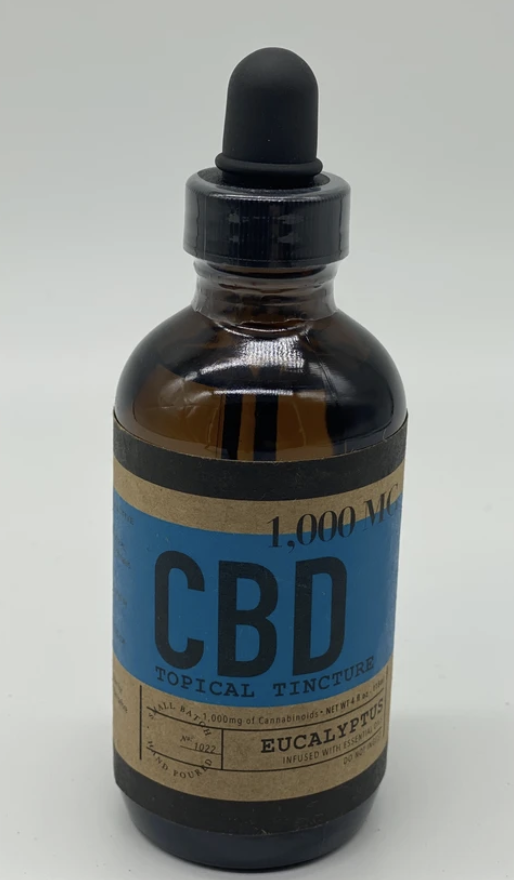CBD Topical Oils Tinctures 1000 mg Isolate in 120 ML.
