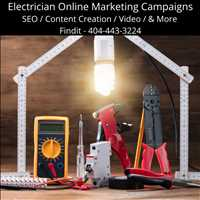 Improve Online Presence Marketing Services for Electricians Call Findit 404-443-3224