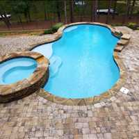 Inground Custom Concrete Pool Installation in Mooresville North Carolina Call CPC Pools 704-799-5236