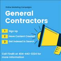 Online Marketing for General Contractors on Findit Call 404-443-3224