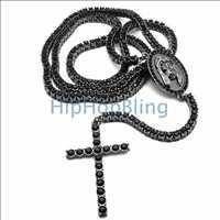 1 Row Bling Bling Rosary Black on Black