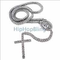 Bling Bling Chain 1 Row Rosary Necklace