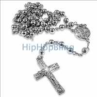 Platinum Style Hip Hop Rosary Necklace