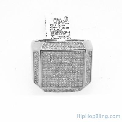 XXL Box 1.02 Carat Diamond Mens Hip Hop Ring