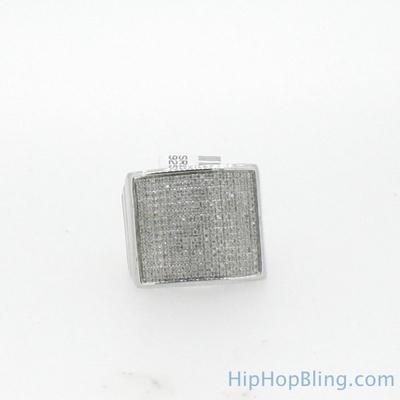 XL Square .75 Carat Diamond Mens Ring