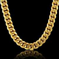 We all need one, the classic gold cuban chain is the gold standard for bling - Hip Hop Bling