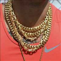 Fresh gold chains, get them cuban links from Hip Hop Bling