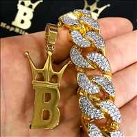 22MM Cuban Chain Drenched In Diamonds